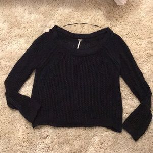 Free people navy blue sweater small